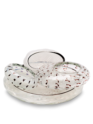 Dale Chihuly 4 Piece Cotton White Seaform Set